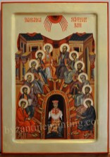 icon painting Pentecost, or Whitsun