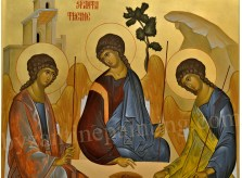 The Holy Trinity detail, byzantine icons for sale