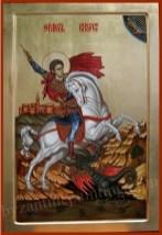 Saint George, Byzantine icon for sale