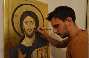 Icoana pictata Iisus Hristos Mila si Dreptate