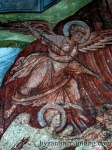 Mural painting Gracanica monastery