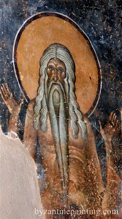 Pictura in fresca Kurbinovo Macedonia (2)