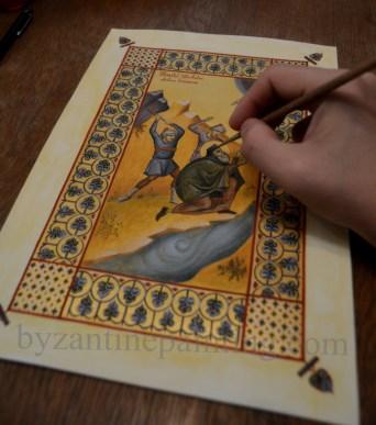 Miniature Saint Anthim the Iberian (2)