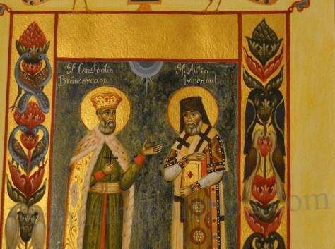 Miniature Saint Constantin Brancoveanu and Saint Anthim the Iberian (1)