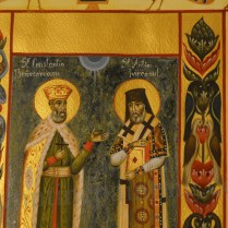 Miniature Saint Constantin Brancoveanu and Saint Anthim the Iberian (1)