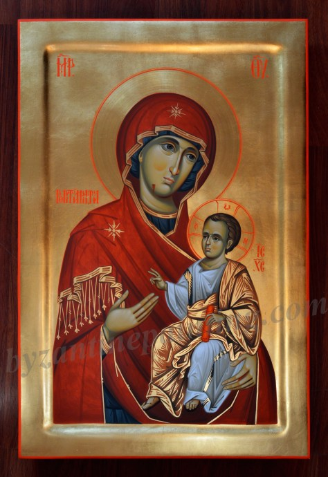 Panagia Portaitissa painted icon