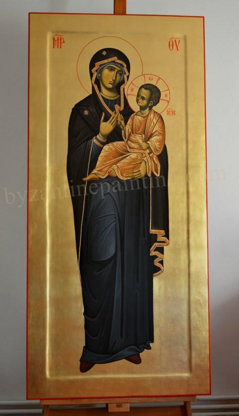 Icoana pictata Maica Domnului cu Pruncul (1)