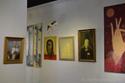 Contemporary religious art exhibition