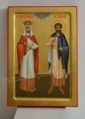 Saint-Alexandra-the-Empress-and-Saint-Adrian-byzantine-icon.-Studio-Dumitrescu