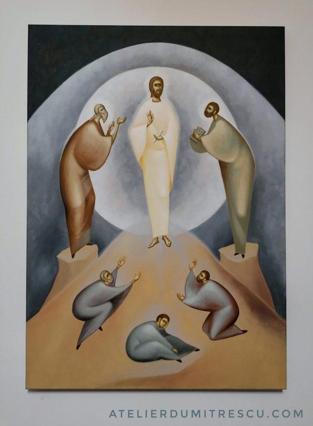 The Transfiguration of Jesus Christ, contemporary religious art. Studio Dumitrescu