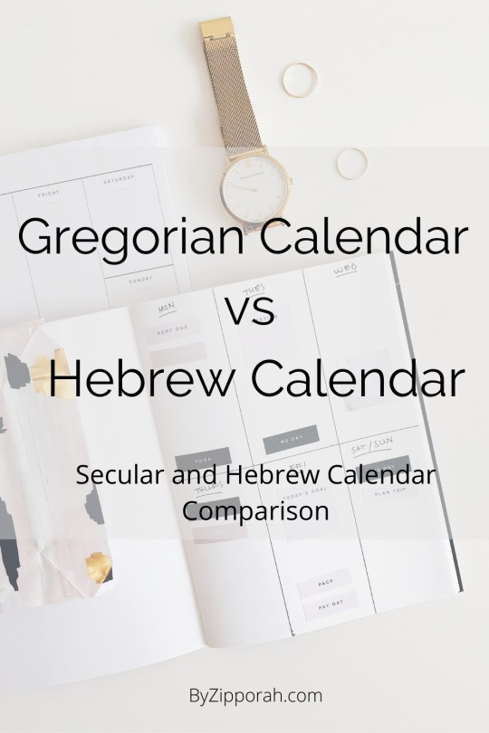 The Gregorian Calendar Vs The Hebrew Calendar