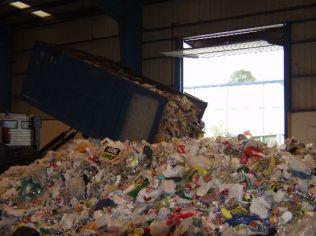 Descarga de residuos
