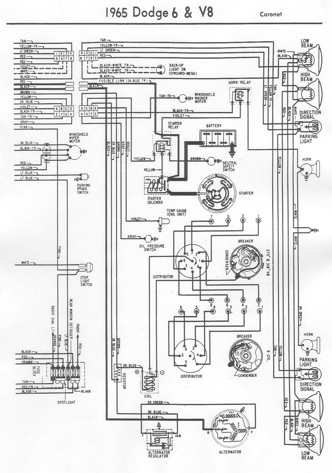 Wiring Diagram Vintage Dodge Coronet2 Bob S Garage Library