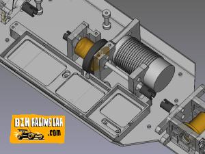 Vue 3D paramétrique bac lipo variateur et support moteur