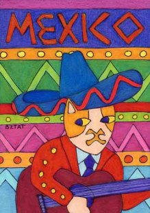 Brewskie-Butt-ginger-white-cat-Mexico-drawing-