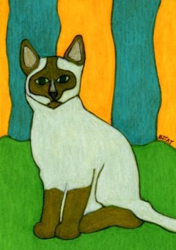 Siamese-Tonkinese-cat-drawing