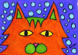 Orange-snow-cat-drawing
