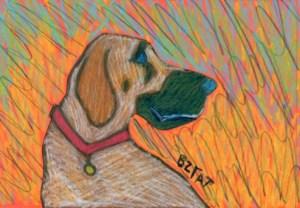 Autumn-dog-drawing