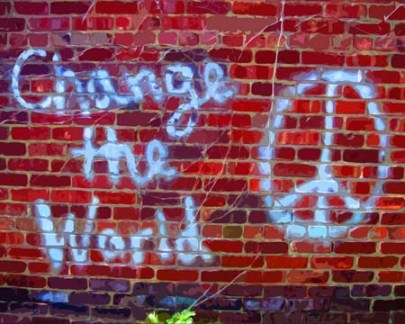 Change the World grafitti art by BZTAT