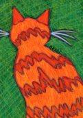 Orange cat drawing by BZTAT