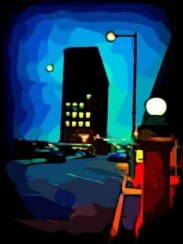 Canton Ohio urban landscape digital art by BZTAT