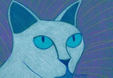 Tonkinese cat drawing BZTAT