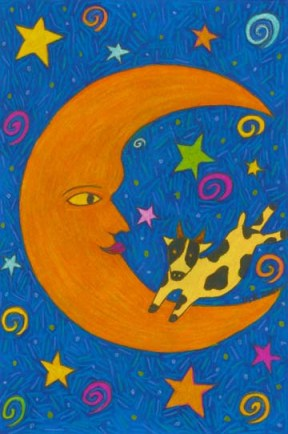 The cow jumped over the moon drawing by BZTAT