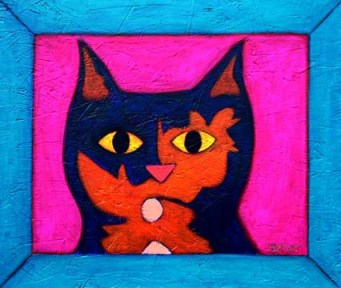 Tortoise Shell Cat Painting by BZTAT