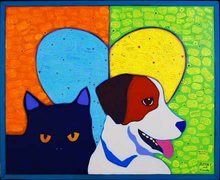 BlogPaws mural Public Art by BZTAT