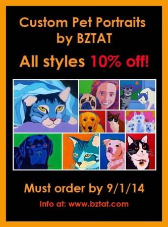 Sale on Custom Pet Portraits