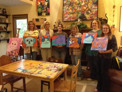 Recent Pet Portrait painting workshop by Artist BZTAT