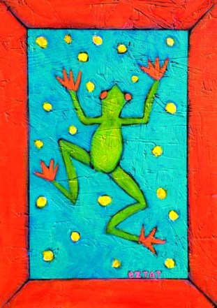 Frog painting by BZTAT