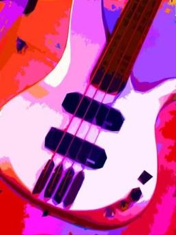 Pink Guitar art by BZTAT