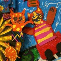 Kids art adventure art class with artist bztat in Canton, OH