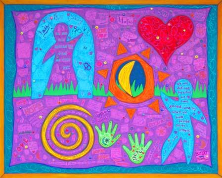 Alzheimer's Association Collaborative Mural by BZTAT