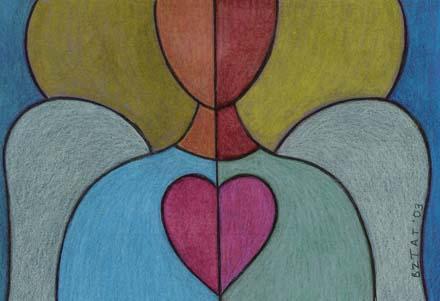 13. Angel Card (Blank Inside)