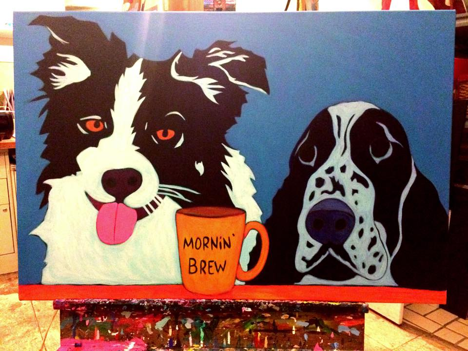 Border-collie-Springer-spainiel-contemporary-pet-portrait-work-in-progress-4.jpg