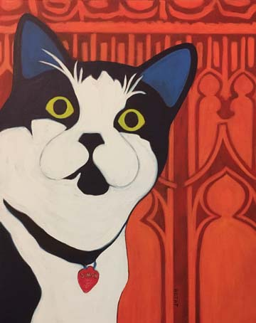 Simon the Church Cat Pet Portrait by Artist BZTAT