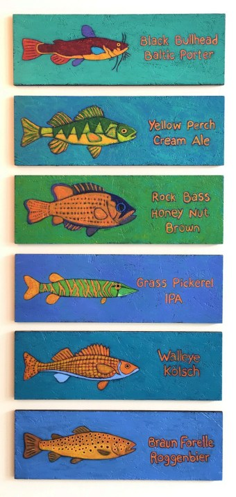 Muskellunge Brewing Company Fish painting menu