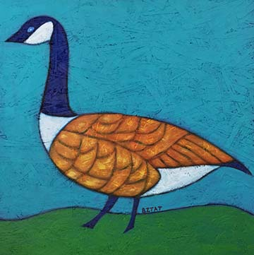 Canada Goose urban wildlife painting contemporary pop art BZTAT