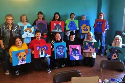 Pet Portrait Painting Workshop Retreat by Artist BZTAT at Avenue Arts Marketplace and Theatre in Canton, OH