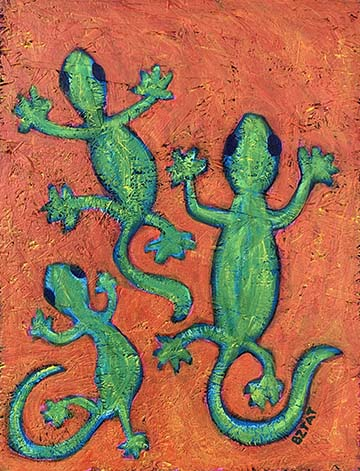 Lizard Painting by BZTAT