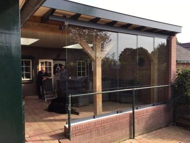 Glazen schuifwanden veranda 10