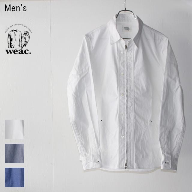weac. コードレーンジップシャツ ZIP SHIRTS2 (WHITE)