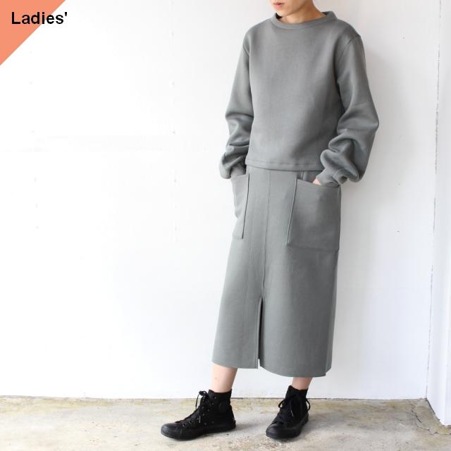 Siora カードボードニットセットアップ Cardboard knit setup / Puff sleeve pullover & Midi skirt
