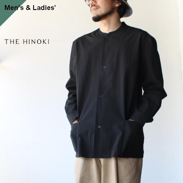 THE HINOKI コットンボイルパラシュートクロススタンドアップカラーシャツ TH20S-14 ブラック