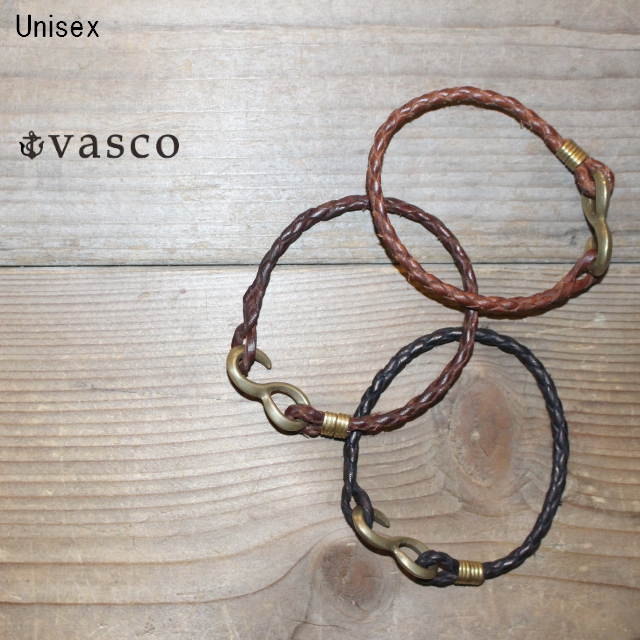 vasco メッシュレザーブレスレット NELSON WOVEN BRACELET VS-648 (CAMEL,BROWN,BLACK)