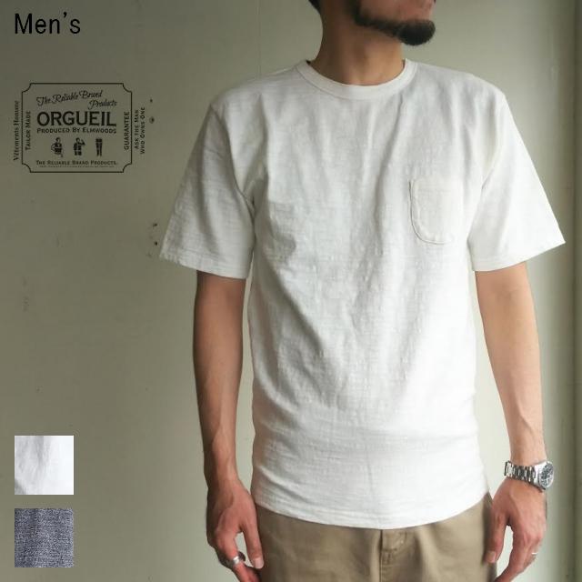 ORGUEIL 吊り編み天竺クルーネックT Crew Neck T-Shirt  OR-9015 (WHITE)
