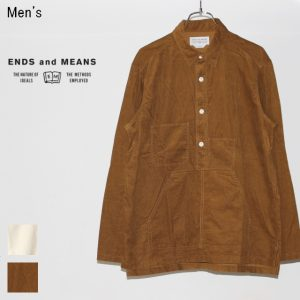 ENDS and MEANS コードユーティリティシャツ Cord Utility Shirts EM172S011 (BROWN BEIGE)