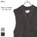 ENDS and MEANS ニットベスト Grandpa Vest EM172K009 (BROWN BLACK)